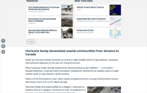 Hurricane Sandy page on the Climate Signals site