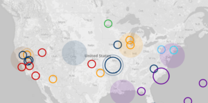 Hurricane Sandy mapped along with other climate change events