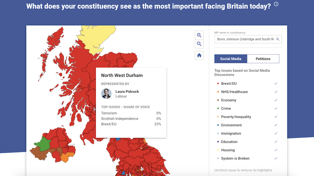 Screenshot of British Political Atlas site